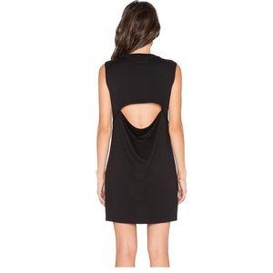 LNA open drape back dress short sleeveless XS